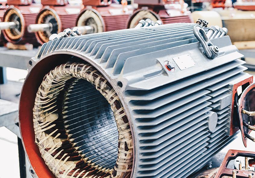 Elektromaschinen und Generatoren in der Produktion